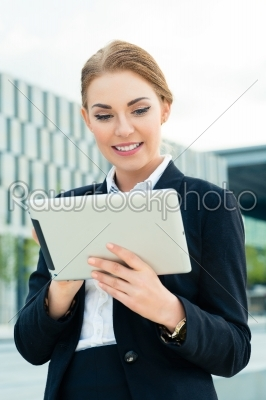 stock photo: businesswoman using tablet computer -Raw Stock Photo ID: 49742