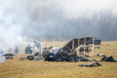 stock photo: cannon shooting-Raw Stock Photo ID: 67051