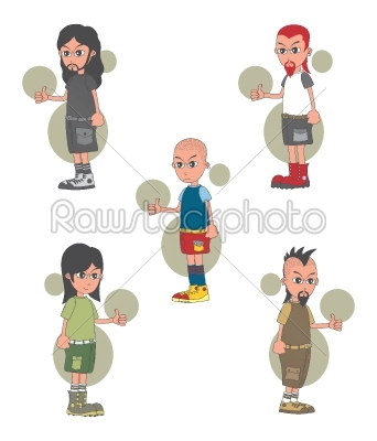 stock vector: cartoon guy character-Raw Stock Photo ID: 69468