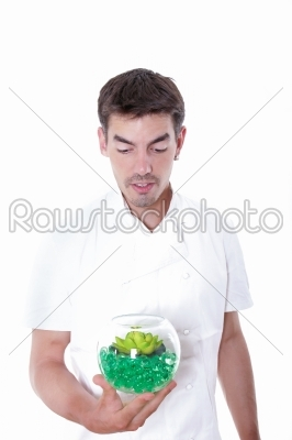 stock photo: chef curiously looking at the meal-Raw Stock Photo ID: 52307