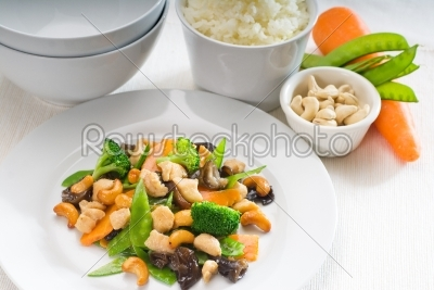 stock photo: chicken and vegetables-Raw Stock Photo ID: 54205