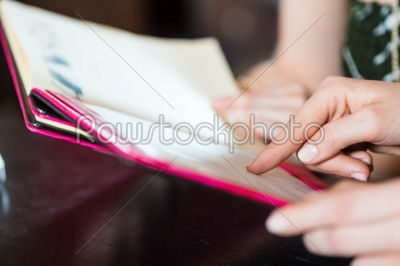 stock photo: choosing in the menu card of cafe or restaurant-Raw Stock Photo ID: 48792