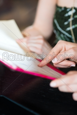 stock photo: choosing in the menu card of cafe or restaurant-Raw Stock Photo ID: 48793