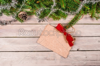 stock photo: christmas greeting on wood-Raw Stock Photo ID: 66162