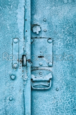 stock photo: close up of padlock and old metal hasp on an vintage door-Raw Stock Photo ID: 68275