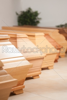 stock photo: coffins in shop of mortician-Raw Stock Photo ID: 52066