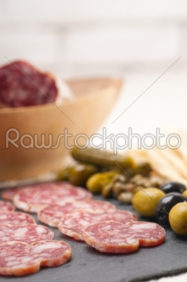 stock photo: cold cut platter with pita bread and pickles-Raw Stock Photo ID: 59554