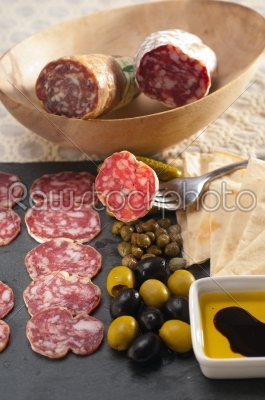 stock photo: cold cut platter with pita bread and pickles-Raw Stock Photo ID: 59564