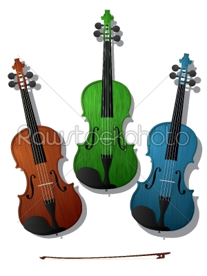 stock vector: colored violins-Raw Stock Photo ID: 55210