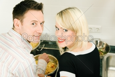 stock photo: couple cooking-Raw Stock Photo ID: 51594