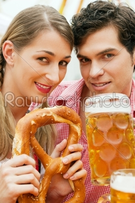 stock photo: couple in a beer tent-Raw Stock Photo ID: 50147