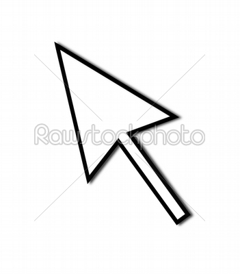 stock photo: cursor arrow mouse black line-Raw Stock Photo ID: 52390