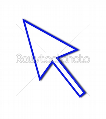 stock photo: cursor arrow mouse blue line-Raw Stock Photo ID: 53041