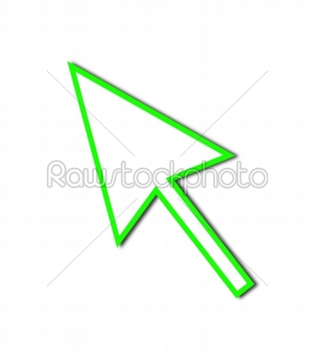 stock photo: cursor arrow mouse green line-Raw Stock Photo ID: 52694