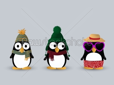 stock vector: cute penguin characters-Raw Stock Photo ID: 60102