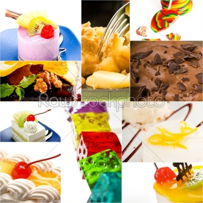 stock photo: dessert cake and sweets collection collage-Raw Stock Photo ID: 65571
