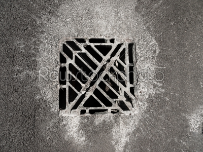 stock photo: drain cover-Raw Stock Photo ID: 74930