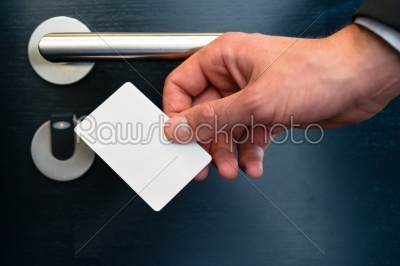stock photo: electronic keycard for room door in modern hotel-Raw Stock Photo ID: 49035