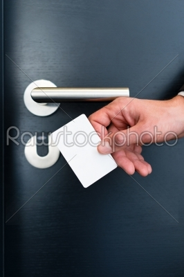 stock photo: electronic keycard for room door in modern hotel-Raw Stock Photo ID: 49036
