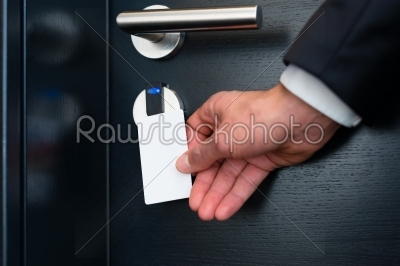 stock photo: electronic keycard for room door in modern hotel-Raw Stock Photo ID: 49037