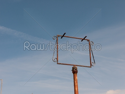 stock photo: empty signpost-Raw Stock Photo ID: 74931