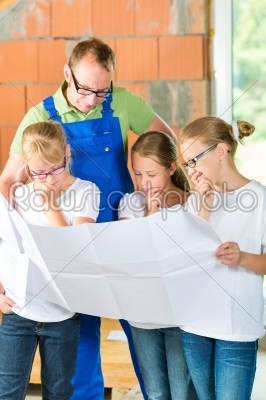 stock photo: familiy viewing home contruction site-Raw Stock Photo ID: 48912