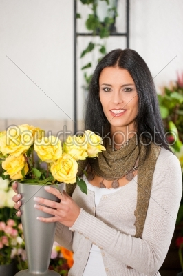 stock photo: female florist in flower shop-Raw Stock Photo ID: 51940