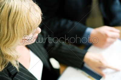 stock photo: female manager at meeting-Raw Stock Photo ID: 51423