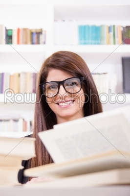 stock photo: female student smiling-Raw Stock Photo ID: 52779