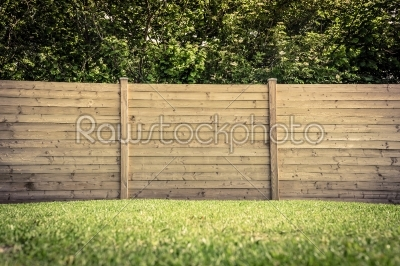 stock photo: fence on lawn-Raw Stock Photo ID: 69764