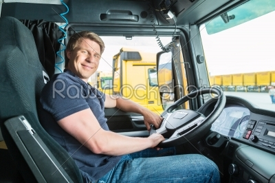 stock photo: forwarder or truck driver in drivers cap-Raw Stock Photo ID: 49246