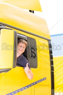 stock photo: forwarder or truck driver in drivers cap-Raw Stock Photo ID: 49248