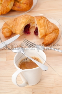 stock photo: fresh croissant french brioche and coffee-Raw Stock Photo ID: 57944