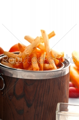 stock photo: fresh french fries on a bucket-Raw Stock Photo ID: 54380