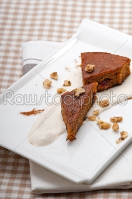 stock photo: fresh healthy carrots and walnuts cake dessert-Raw Stock Photo ID: 57838