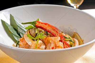 stock photo: fresh seafood thai salad-Raw Stock Photo ID: 54924