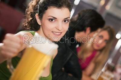 stock photo: friends drinking beer in bar-Raw Stock Photo ID: 50295