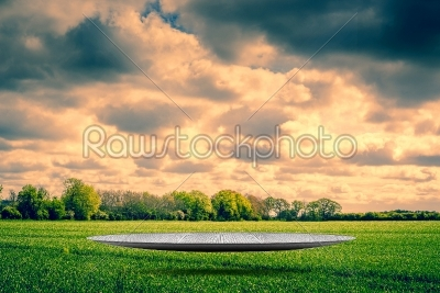 stock photo: futuristic stage in cloudy weather-Raw Stock Photo ID: 68055