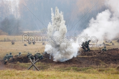 stock photo: german soldiers battle-Raw Stock Photo ID: 67027