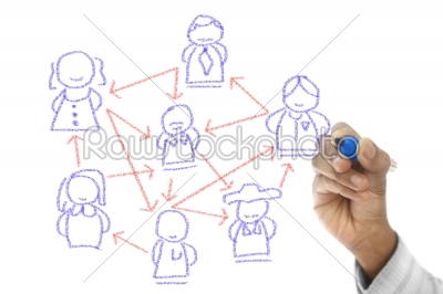 stock photo: global communication shown on transparent wipe board-Raw Stock Photo ID: 61481