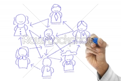 stock photo: global communication shown on transparent wipe board-Raw Stock Photo ID: 61482