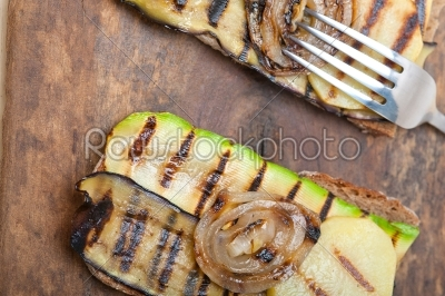 stock photo: grilled vegetables on bread-Raw Stock Photo ID: 64952