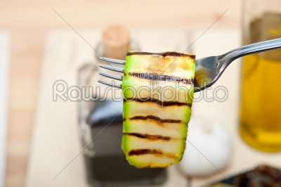 stock photo: grilled zucchini courgette on a fork-Raw Stock Photo ID: 64939