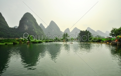 stock photo: guilin li river karst mountain landscape in yangshuo-Raw Stock Photo ID: 57090