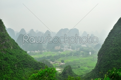 stock photo: guilin li river karst mountain landscape in yangshuo-Raw Stock Photo ID: 57093