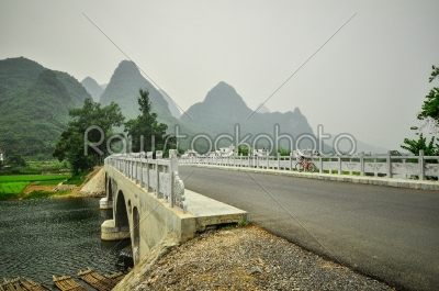 stock photo: guilin li river karst mountain landscape in yangshuo-Raw Stock Photo ID: 57103