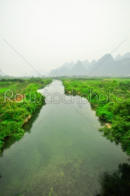 stock photo: guilin li river karst mountain landscape in yangshuo-Raw Stock Photo ID: 57106