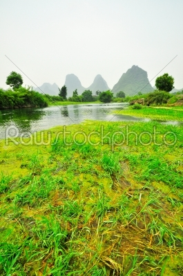 stock photo: guilin li river karst mountain landscape in yangshuo-Raw Stock Photo ID: 57110