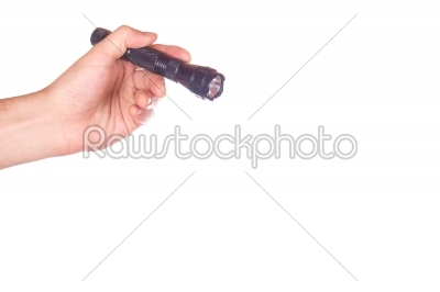 stock photo: hand holding a flashlight-Raw Stock Photo ID: 53320