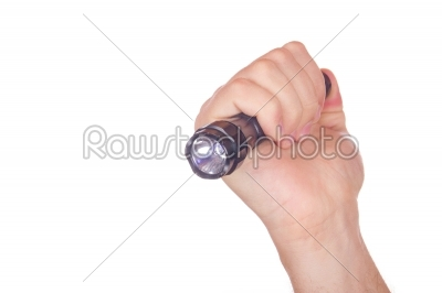 stock photo: hand pointed with flashlight-Raw Stock Photo ID: 52339